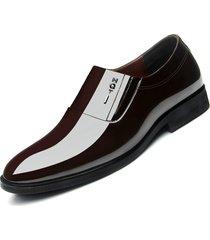 antiscivolo in pelle per uomo in puro colore antiscivolo su scarpe formali casual