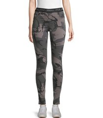 camouflage denim leggings