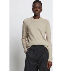 proenza schouler eco cashmere sweater oatmeal/brown l