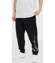 karl kani kk signature retro sweatpants byxor svart/vit