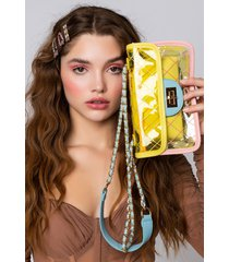 akira tropical sun clear purse