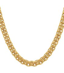 """anthony jacobs 18k goldplated stainless steel bismark mesh link necklace/24"""""""