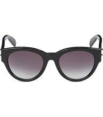 alexander mcqueen women's 51mm cat eye sunglasses - black