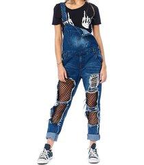 mallas gran agujero general jeans mono para las mujeres arrancó novio