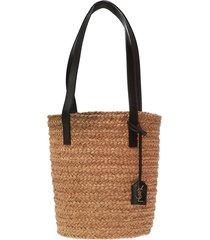 raffia bucket bag