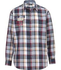 overhemd men plus marine::rood