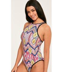 sahara underwire high neck tummy control one-piece swimsuit