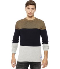 sweater jack & jones jorflash knit multicolor - calce regular