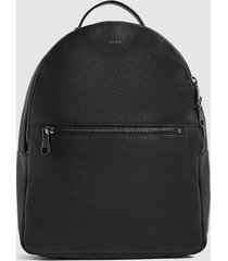 reiss grayson - textured leather backpack in black, mens