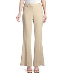 elie tahari women's anna crepe flare pants - island sand - size 4