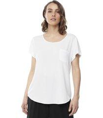 blusa bolsillos blanco mujer corona