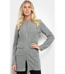 casaco sobretudo holin stone lã batida feminino