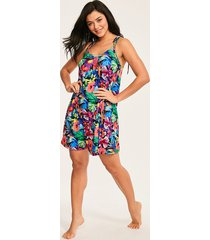 hawaii floral jersey cami dress