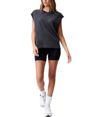 women's lifestyle slouchy muscle tank top