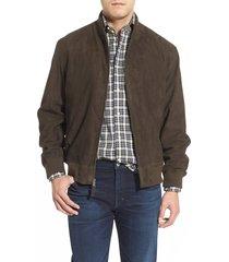 men's golden bear suede baseball jacket, size xx-large - green