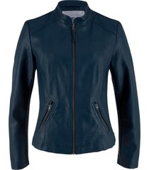 giacca in similpelle (blu) - bpc bonprix collection