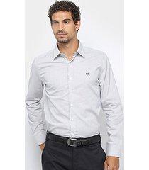 camisa manga longa buckman listrada masculina