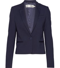roseauiw short blazer blazer colbert blauw inwear