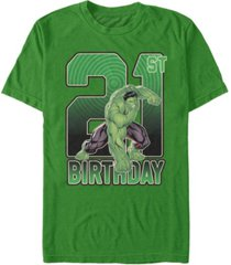 fifth sun men's marvel hulk smash 21st birthday short sleeve t-shirt