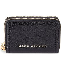 marc jacobs women's the groove double-zip leather card case - fire red