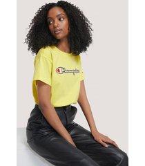 champion crewneck t-shirt - yellow