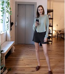 lou & grey signaturesoft plush shirttail sweatshirt