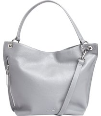 ted baker london chhloee leather hobo bag - grey