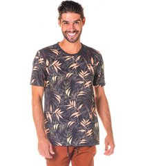 camiseta masculina folhagem ocre total sublimada - area verde - multicolorido - masculino - dafiti