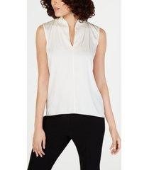 elie tahari judith sleeveless blouse