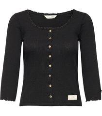 magda top t-shirts & tops long-sleeved zwart odd molly