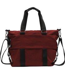 donna uomo per il tempo libero nylon borsa a tracolla grande capacità borsa