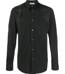 alexander mcqueen buckle detail shirt - black