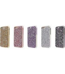 luxury rhinestone 2 layer protection diamond case for apple iphone 5 & 5s