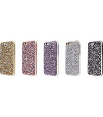 luxury rhinestone 2 layer protection diamond case for apple iphone 5 & 5s