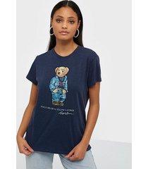 polo ralph lauren denim bear-short sleeve-knit t-shirts