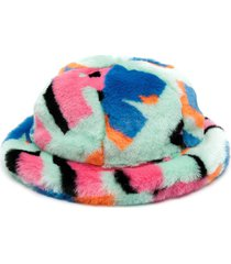 kirin faux fur cloche hat - green
