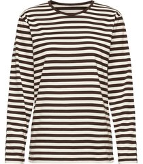 pitkähiha shirt t-shirts & tops long-sleeved bruin marimekko