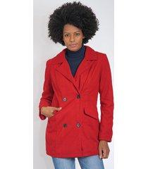 casaco queens paris alfaiataria vermelho