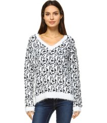 white mark women's leopard sweater