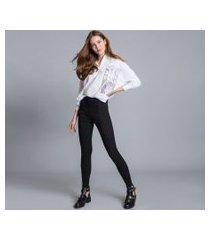 lez a lez - calça jeans jegging ever black preto reativo