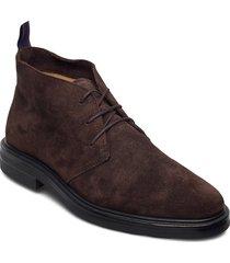 kyree mid lace boot desert boots snörskor brun gant