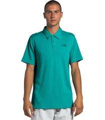 polera plaited crag polo shirt verde the north face