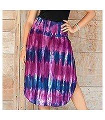 rayon blend skirt, 'twilight amlapura' (indonesia)