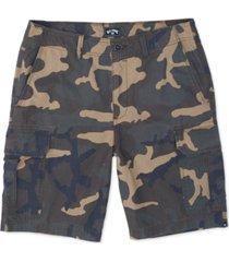 billabong men's scheme core-fit camouflage cargo shorts