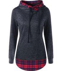sudadera con capucha delgada de otoño para mujer chándal casual tops sueltos camiseta femme sudaderas pullovers-negro