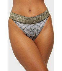 river island plain crochet foil side brief trosa