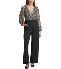 eliza j metallic-top jumpsuit