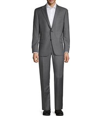 classic-fit stripe wool suit