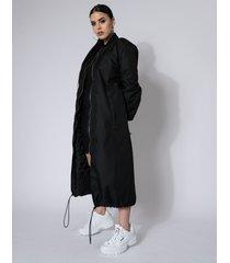 płaszcz longline czarny