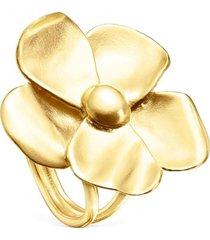 anillo fragile nature flor de plata vermeil dorado tous